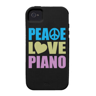 Peace Love Piano iPhone 4 Cases