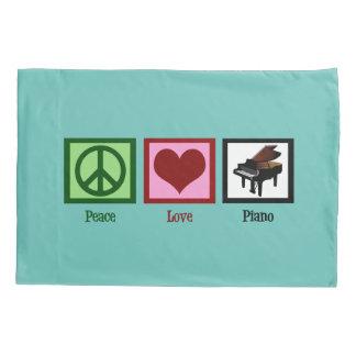 Peace Love Piano Pillowcase