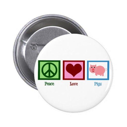 Peace Love Pigs Pin