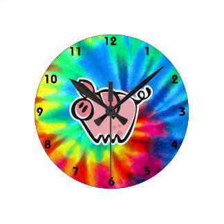 Peace, Love, Pigs Wall Clocks