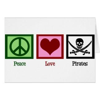 Peace Love Pirates Card