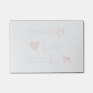 Peace Love Pit Bulls Post-it Notes