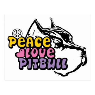 Peace Love Pitbull, Anti BSL Postcard