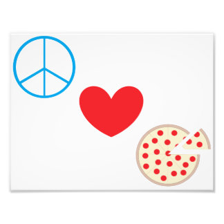 "Peace Love Pizza 8.5""x11"" Kitchen Wall Art"
