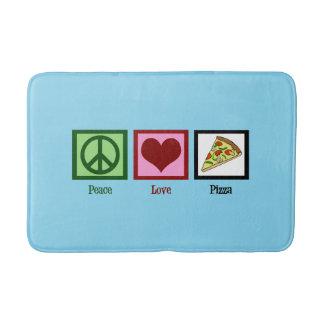 Peace Love Pizza Bath Mat