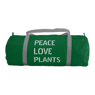 Peace Love Plants duffel Gym Bag