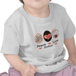 Peace Love Poker Baby T shirt