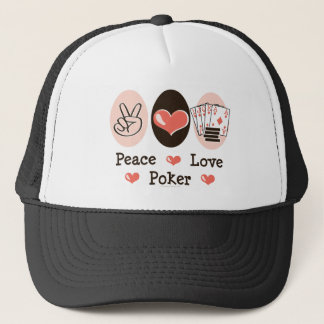 Peace Love Poker Hat