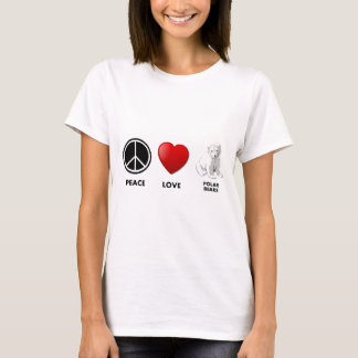 peace love polar bears Save the bears T-Shirt