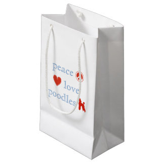 Peace Love Poodles Small Gift Bag