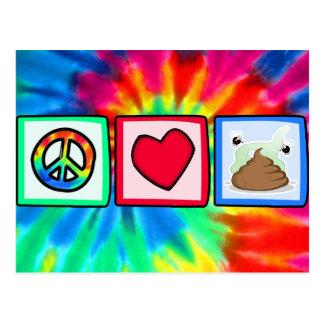 Peace, Love, Poop Postcard