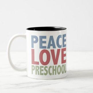 Peace Love Preschool Mugs