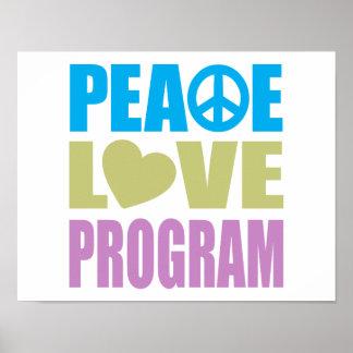 Peace Love Program Poster
