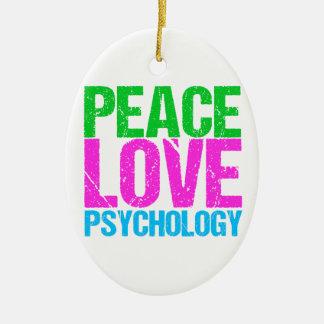 Peace Love Psychology Cute Ceramic Ornament