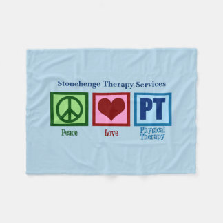 Peace Love PT Physical Therapy Fleece Blanket