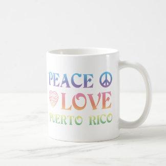 Peace Love Puerto Rico Coffee Mug