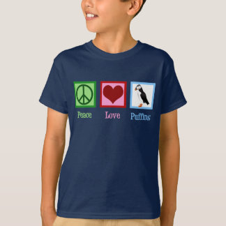 Peace Love Puffins T-Shirt