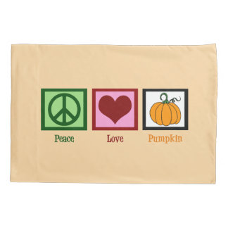 Peace Love Pumpkin Pillowcase