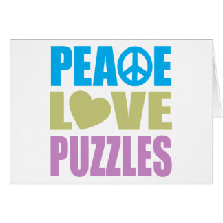 Peace Love Puzzles Card