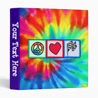Peace, Love, Racing Binders