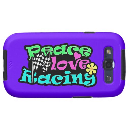 Peace, Love, Racing Galaxy S3 Cases