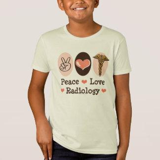 Peace Love Radiology Kids Organic T shirt
