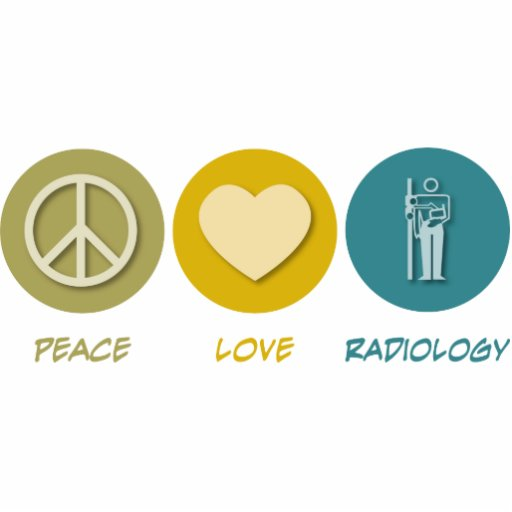 Peace Love Radiology Photo Sculptures