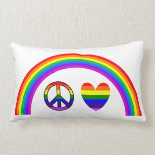 Peace, Love, & Rainbows Pillow