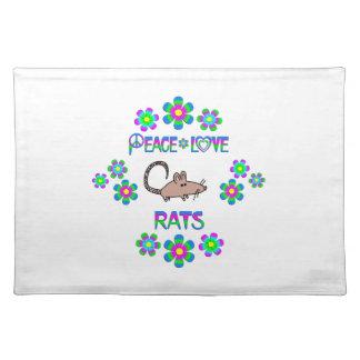 Peace Love Rats Placemat