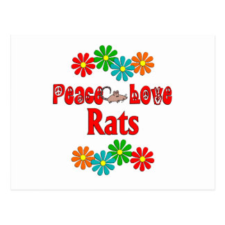 Peace Love Rats Postcard