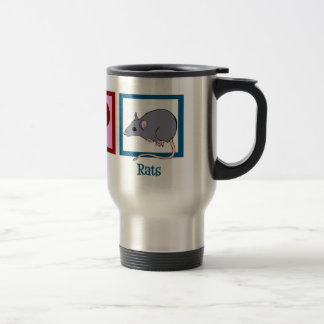 Peace Love Rats Travel Mug