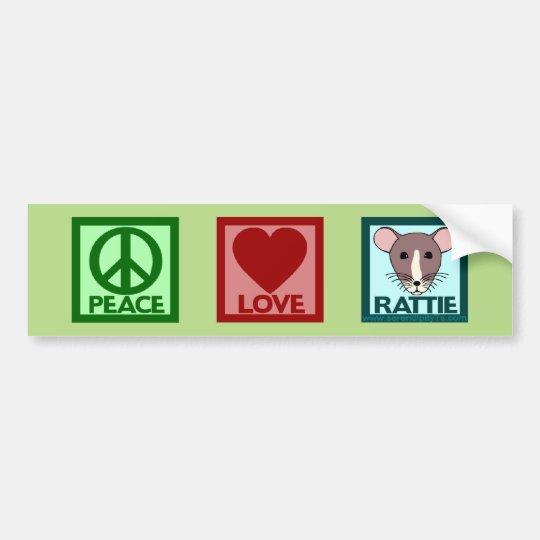 Peace Love Rattie Bumper Sticker