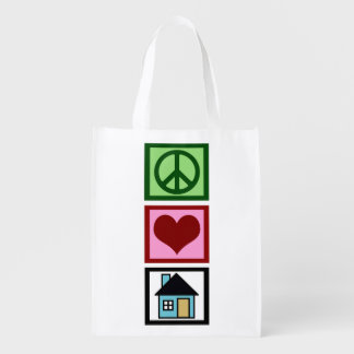 Peace Love Real Estate Grocery Bags