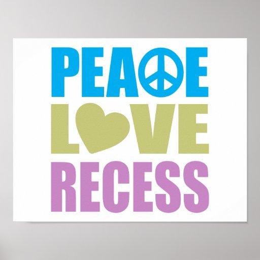 Peace Love Recess Print
