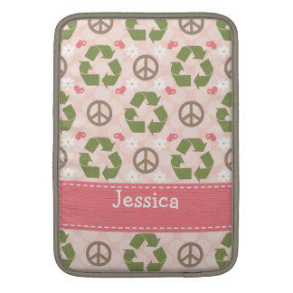Peace Love Recycle MacBook Air Sleeve 13 and 11 In
