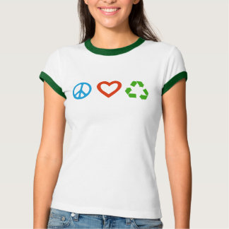 Peace Love Recycle T-Shirt - many colors & styles