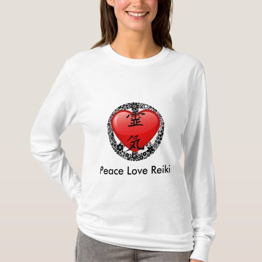 Peace Love Reiki Hoody Long Sleeve-option 2