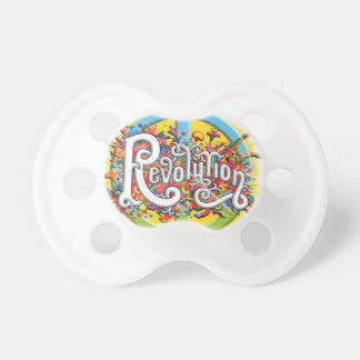 Peace, Love, Revolution Baby Pacifier