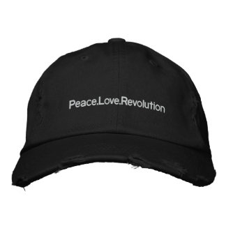 Peace Love Revolution Embroidered Hat