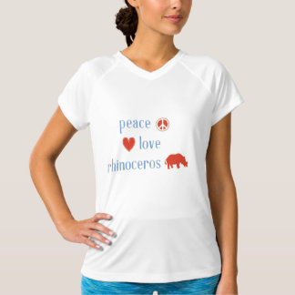 Peace Love Rhinoceros Women's T-Shirt