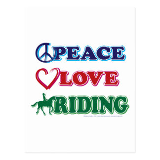 Peace-Love-Riding Horses Postcard