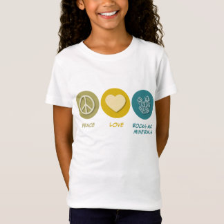 Peace Love Rocks and Minerals T-Shirt