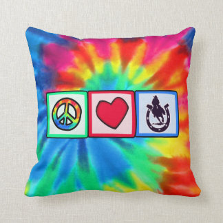 Peace, Love, Rodeo Throw Pillow