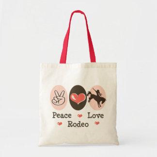 Peace Love Rodeo Tote Bag