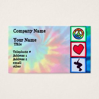Peace, Love, Rollerblading Business Card