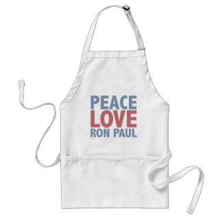 Peace Love Ron Paul Standard Apron