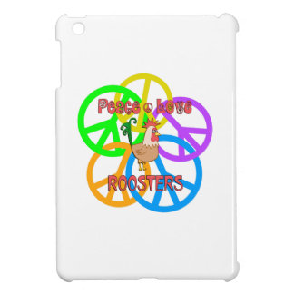 Peace Love Roosters Case For The iPad Mini