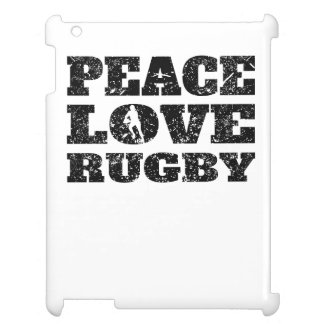 Peace Love Rugby (Distressed) iPad Covers