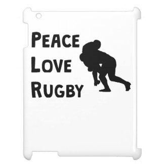 Peace Love Rugby iPad Cases