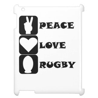Peace Love Rugby iPad Covers